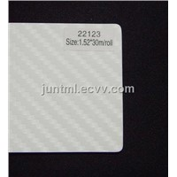 22123 white big texture 3D carbon fiber vinyl film