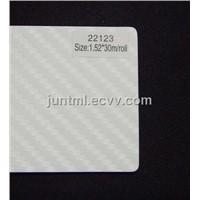 22199 white small texture 3D carbon fiber vinyl film