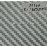 26199 silver small texture 3D carbon fiber vinyl film