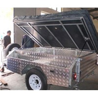 7x4ft light weight off road Aluminum Checker Plate Camper Trailer and travel trailer RC-CPT-09