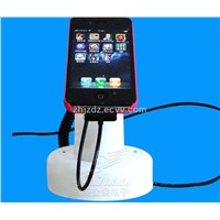 Cell phone display holder with alarm & charging function