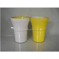 Ceramic cup and mug with electric torch design