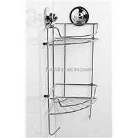 Chrome Plated Kitchen&Bathroom Corner Basket with Suction Cup