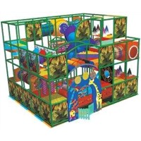 Commercial Indoor Kids Playground Equipments with Slide and Oceanball Pool A-08903