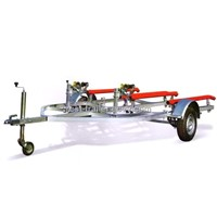 Hot dipped galvanized double jetski trailer / pwc trailer/ boat trailer /skid trailer