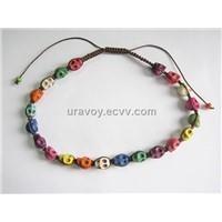 Latest turquoise fashion shamballa skull bracelets for girls women
