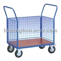 Logistic trolley|Double layers Blue logistic trolley