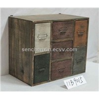 METAL AND WOOD CABINET