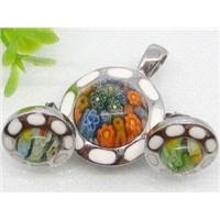 Stainless Steel Murano Glass Jewelry Set  1900312