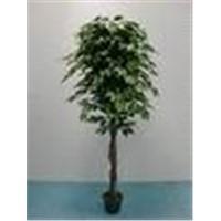 artificial green ficus tree 615G-26G3T3D6'