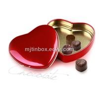 heart tin box chocolate tin box