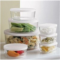 high borosilicate pyrex glass food storage containers