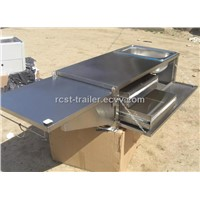 high quality camper trailer stainless steel tailgate kitchen with two drawers