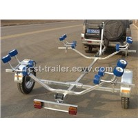 light weight hot dipped galvanized steel foldable boat trailer with rollers