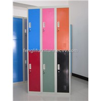 multi-color six-door locker