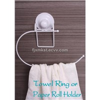plastic coating towel ring holder with vacuum cup