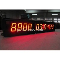 Red Custom Days Hours Time Countdown LED Clock