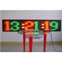 semi-outdoor p16 double color message time led sign