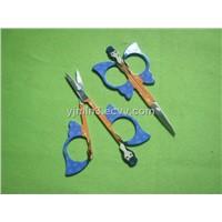 eyebrow beauty scissors with fashion girl pattern