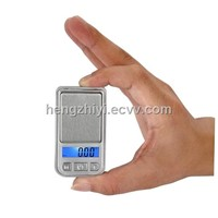 mini pocket scale with blue back light