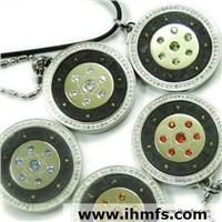 scalar energy pendant set contains negative ion and infrared cz diamond oem odm