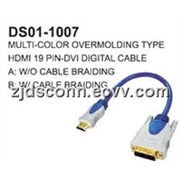 DVI to HDMI Cable (Multi-Color)