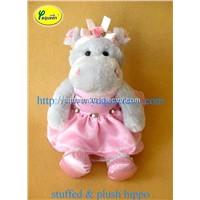 Plush Hippo in Pink Tutu