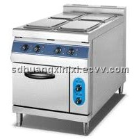 4-Plate electric cooker with electric oven (square)