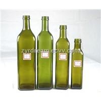 Dark Green Olive Oil Glass Bottle
