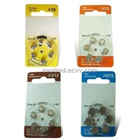 Hearing Aid Batteries , Zinc Air Button Cell A10.A312.A13.A675