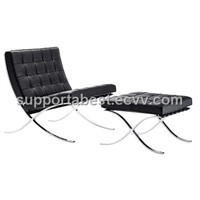Ludwig Mies Van der Rohe Barcelona Chair and Ottoman
