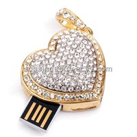 Necklace Heart Shape Jewelry Gift USB flash drive