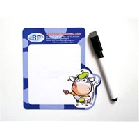 Promotional magnetic note board with pen