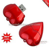 Red Heart USB Flash Drive, U-Disk