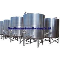 Red wine fermentation tanks