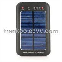 Solar Charger & Flashlight - 2600mAh