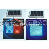 Solar Red and Blue Alarm Signals-Traffic Lights