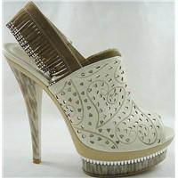 Stylish and Sexy high heel macrame slingback high platform ladies sandals
