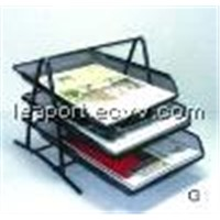 Three-Tiered File Tray - Black