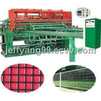 Wire mesh fencing welding machine