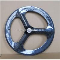 carbon tri-spoke wheel