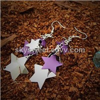 exquisite colourful star earrings(SWTER090)
