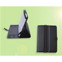 iPad Leather Case w/Rejustable Stand,