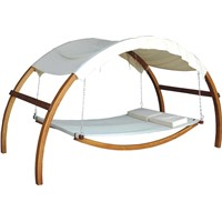 swing bed,wooden swing bed,garden furniture
