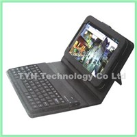 wireless bluetooth keyboard with leather case for IPAD