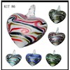 Jewelry Necklace Murano Earring Set