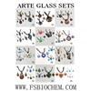 Murano glass Pendant Necklace Earring Jewelry Set,murnao jewlery sets