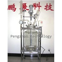 10L Jacket glass reactor (GG17 glass, PTFE sealing,316L stainless steel)