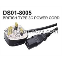 British Type 3c Power Cord