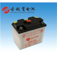Dry Motorcycle Battery 6N6-3B 6V6AH Lead Acid Starter Battery